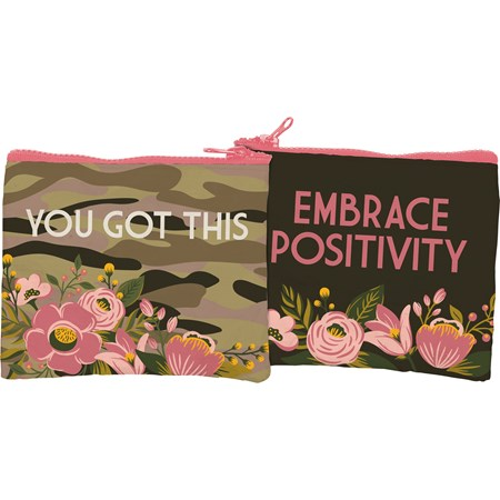 "Zipper Wallet - You Got This - 5.25"" x 4.25"" - Post-Consumer Material, Metal"