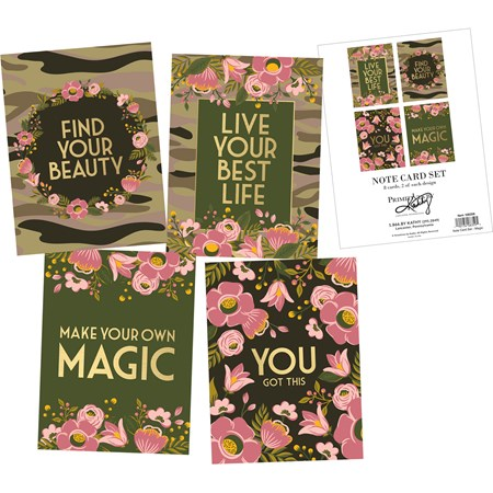 "Note Card Set - Magic - 4.25"" x 5.50"" - Paper"