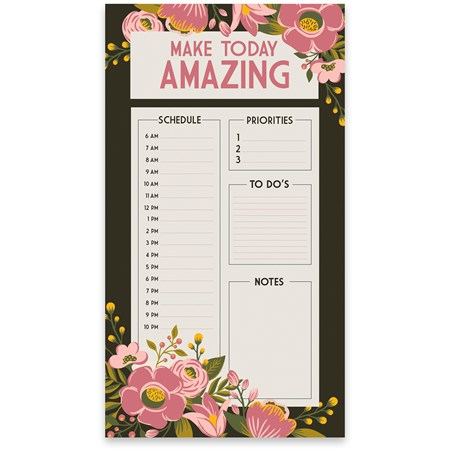 "Lg Notepad - Make Today Amazing - 5.25"" x 9.50"" x 0.25"" - Paper"