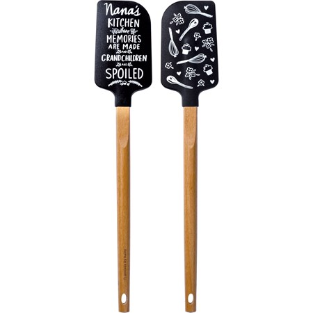 "Spatula - Nana's Kitchen - 2.50"" x 13"" x 0.50"" - Silicone, Wood"