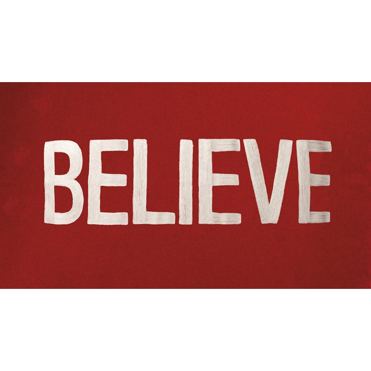 "Runner - Believe - 56"" x 15"" - Cotton"