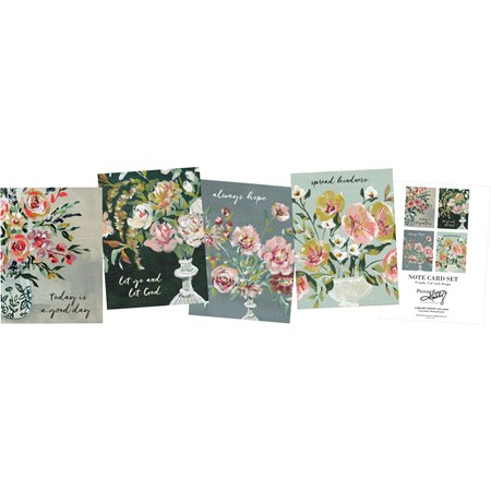 "Note Card Set - Hope - 4.25"" x 5.50"" - Paper"