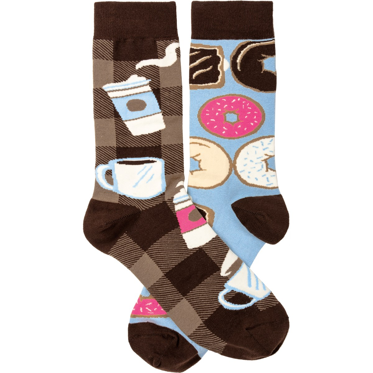 Socks - Coffee & Donuts - One Size Fits Most - Cotton, Nylon, Spandex