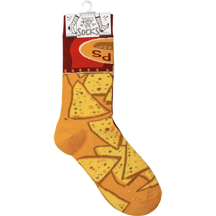 Socks - Chips & Salsa - One Size Fits Most - Cotton, Nylon, Spandex