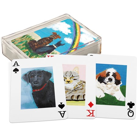 "Playing Cards - FHG Pets - 2.50"" x 3.50"" x 1"" - Paper, Plastic"