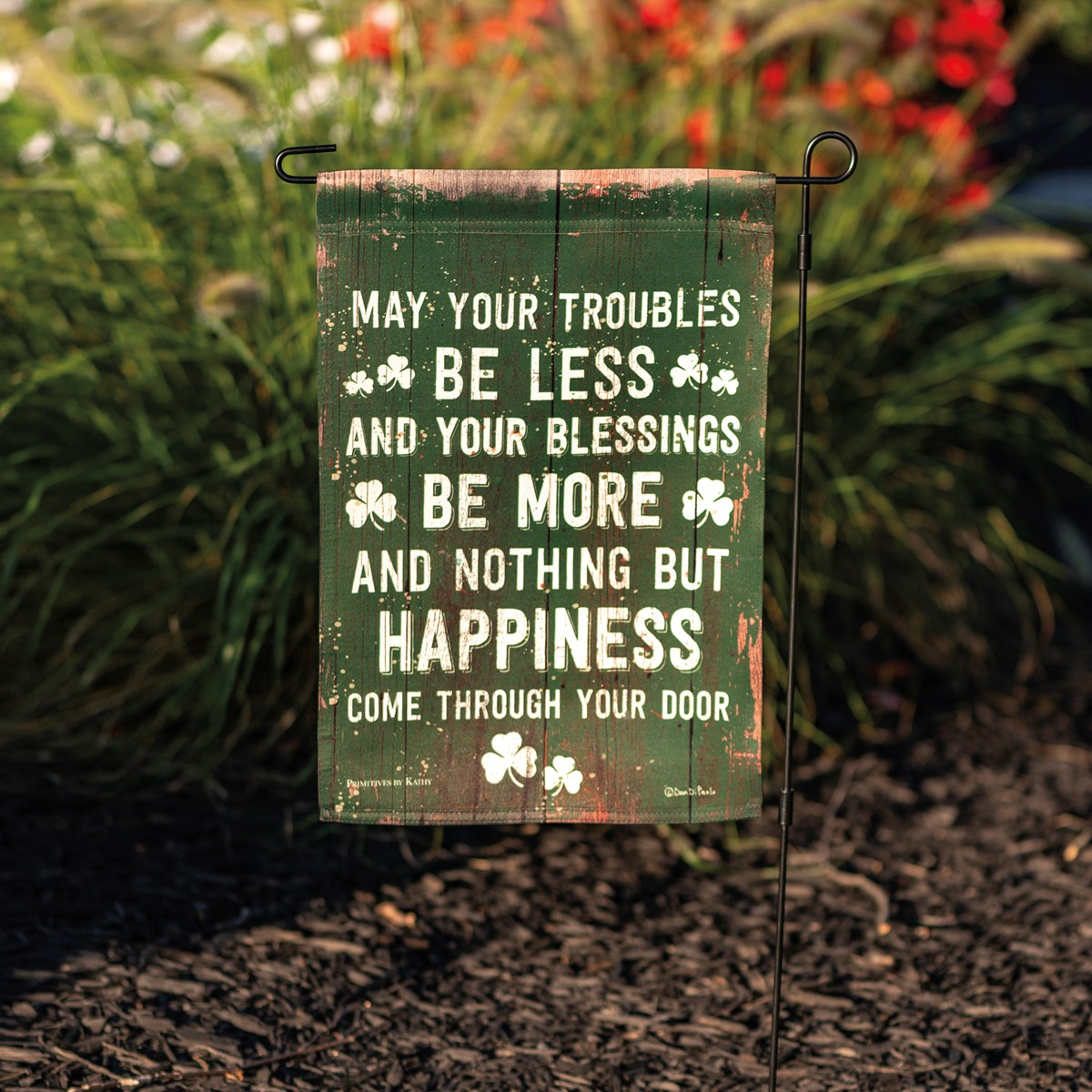 "Garden Flag - May Your Troubles Be Less - 12"" x 18"" - Polyester"