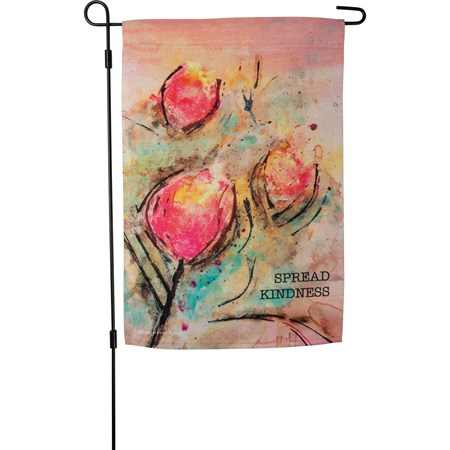 "Garden Flag - Spread Kindness - 12"" x 18"" - Polyester"
