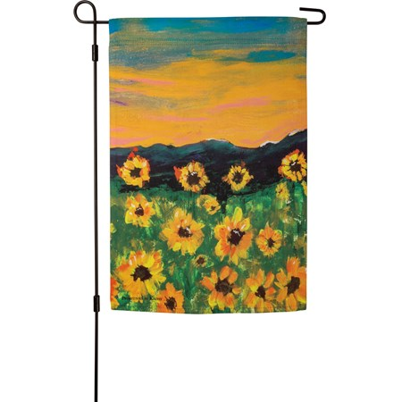 "Garden Flag - Beautiful - 12"" x 18"" - Polyester"