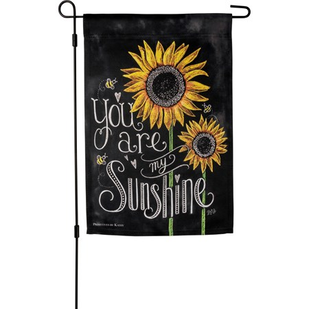 "Garden Flag - You Are My Sunshine - 12"" x 18"" - Polyester"