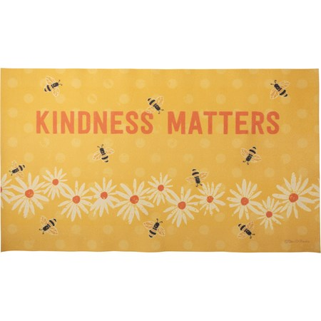 "Rug - Kindness Matters - 34"" x 20"" - Cotton, PVC"