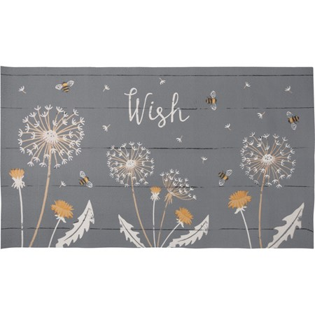 "Rug - Wish - 34"" x 20"" - Cotton, PVC"