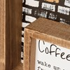 "Inset Box Sign - Coffee Magic In The Cup - 7.50"" x 6"" x 1.75"" - Wood"