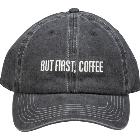Baseball Cap - But First Coffee - One Size Fits Most - Cotton, Metal