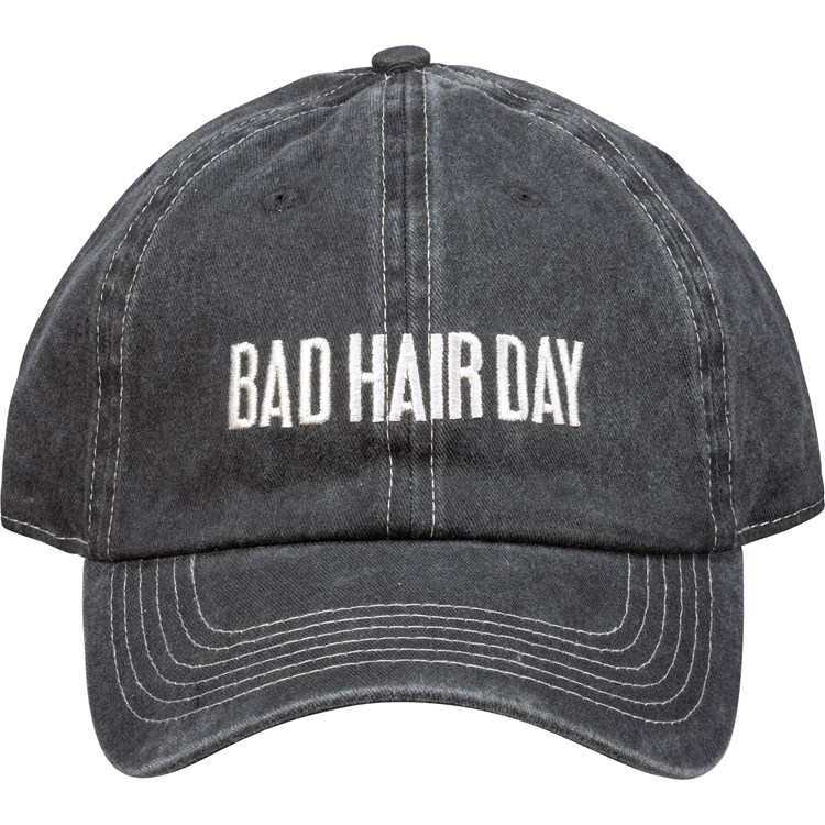 Baseball Cap - Bad Hair Day - One Size Fits Most - Cotton, Metal