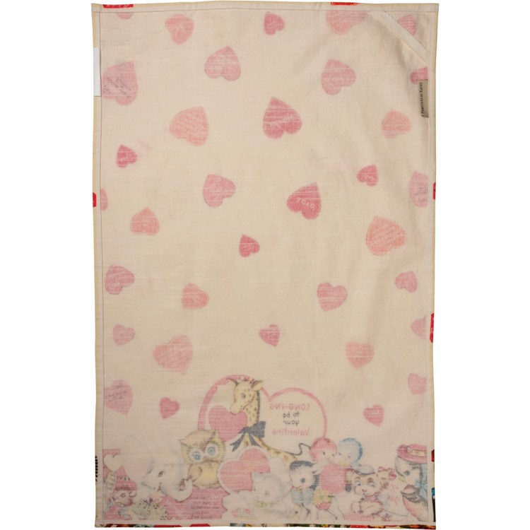 "Dish Towel - Long-ing To Be Your Valentine - 18"" x 28"" - Cotton"