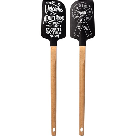 "Spatula - Adulthood - 2.50"" x 13"" x 0.50"" - Silicone, Wood"