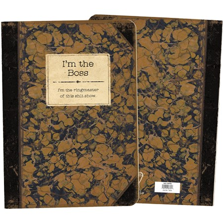 "Journal - I'm The Boss - 5.25"" x 7.25"" x 0.75"" - Paper"