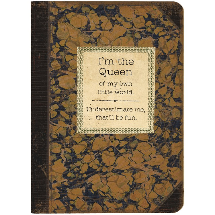 "Journal - I'm The Queen - 5.25"" x 7.25"" x 0.75"" - Paper"