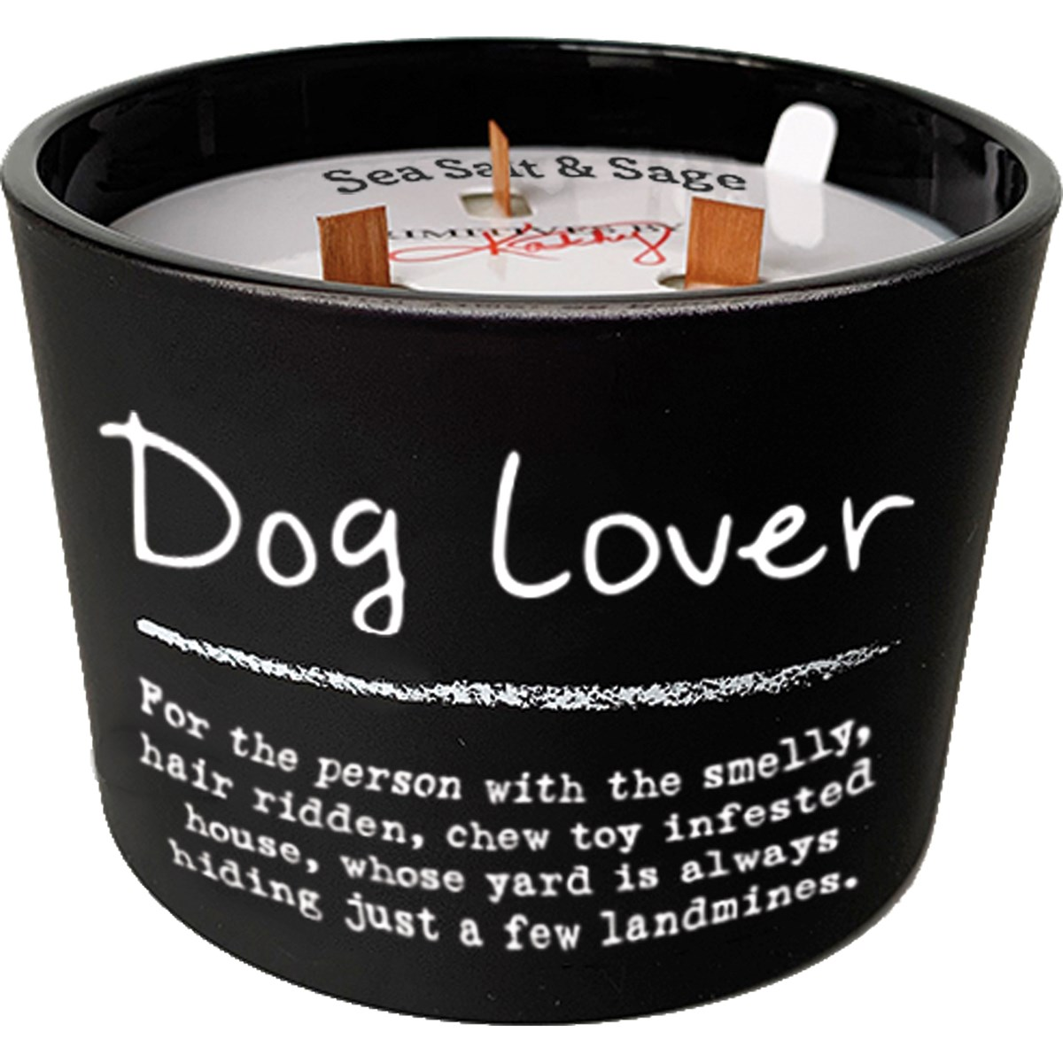 "Jar Candle - Dog Lover - 4.50"" Diameter x 3.50"" - Glass, Soy Wax, Wood"