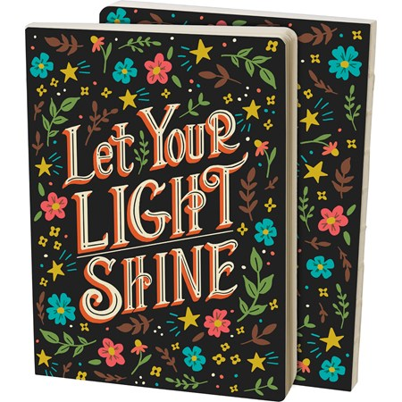 "Journal - Let Your Light Shine - 5.25"" x 7.25"" x 0.75"" - Paper"