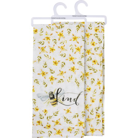 "Dish Towel - Bee Kind - 18"" x 28"" - Cotton"