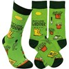 Socks - Awesome Gardener - One Size Fits Most - Cotton, Nylon, Spandex