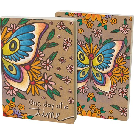 "Journal - Butterfly - One Day At A Time - 5.25"" x 7.25"" x 0.75"" - Paper"