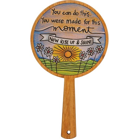 "Hand Mirror - You Were Made For This Moment - 6.50"" x 11.50"" x 0.25"" - Wood, Mirror"