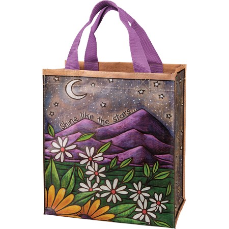 "Daily Tote - Shine Like The Stars - 8.75"" x 10.25"" x 4.75"" - Post-Consumer Material, Nylon"