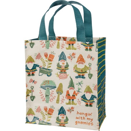 "Daily Tote - Hangin' With My Gnomies - 8.75"" x 10.25"" x 4.75"" - Post-Consumer Material, Nylon"