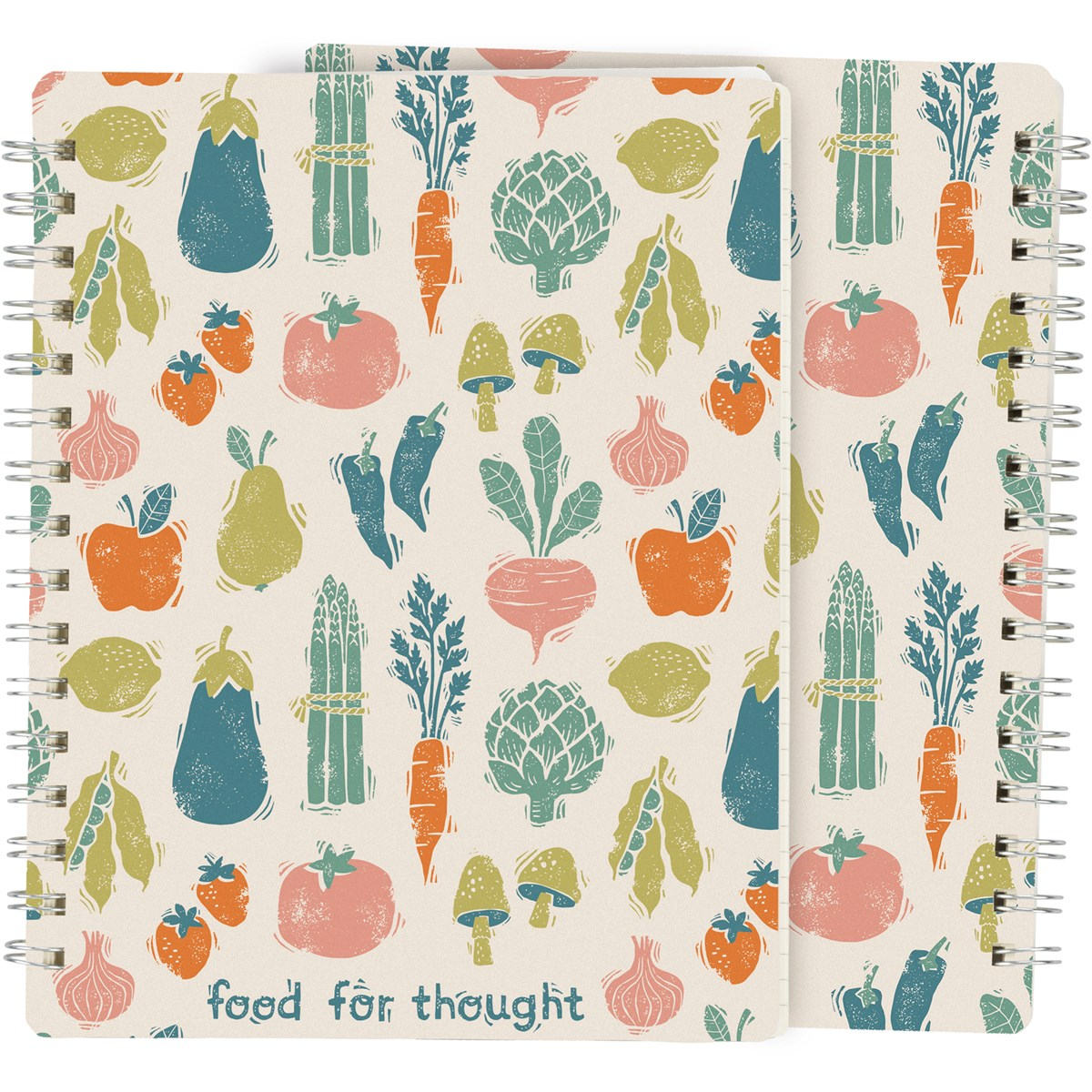 "Spiral Notebook - Food For Thought - 5.75"" x 7.50"" x 0.50"" - Paper, Metal"