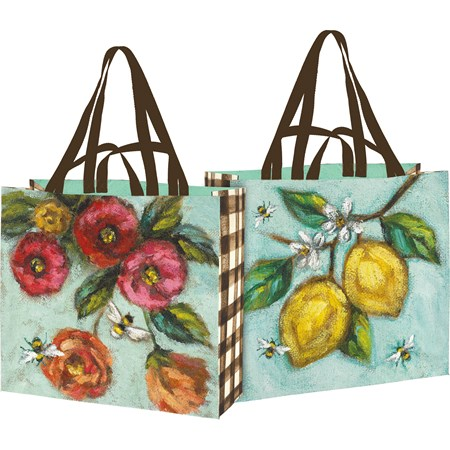 "Shopping Tote - Garden - 19.50"" x 17.50"" x 7"" - Post-Consumer Material, Nylon"