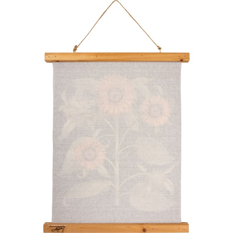"Wall Decor - Sunflower - 15.75"" x 19.25"" x 0.75"" - Canvas, Wood, Cotton"