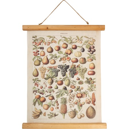 "Wall Decor - Fruit - 15.75"" x 19.25"" x 0.75"" - Canvas, Wood, Cotton"