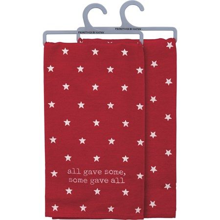 "Dish Towel - All Gave Some Some Gave All - 20"" x 26"" - Cotton, Linen"