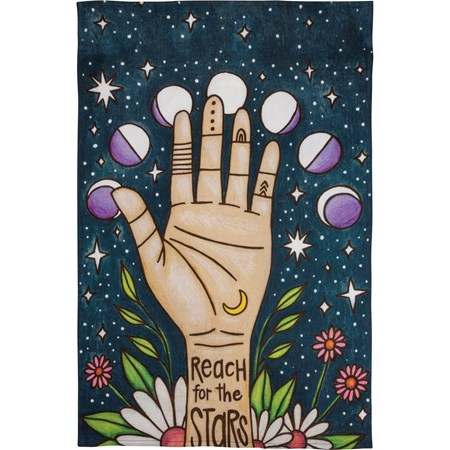 "Dish Towel - Reach For The Stars - 18"" x 28"" - Cotton"