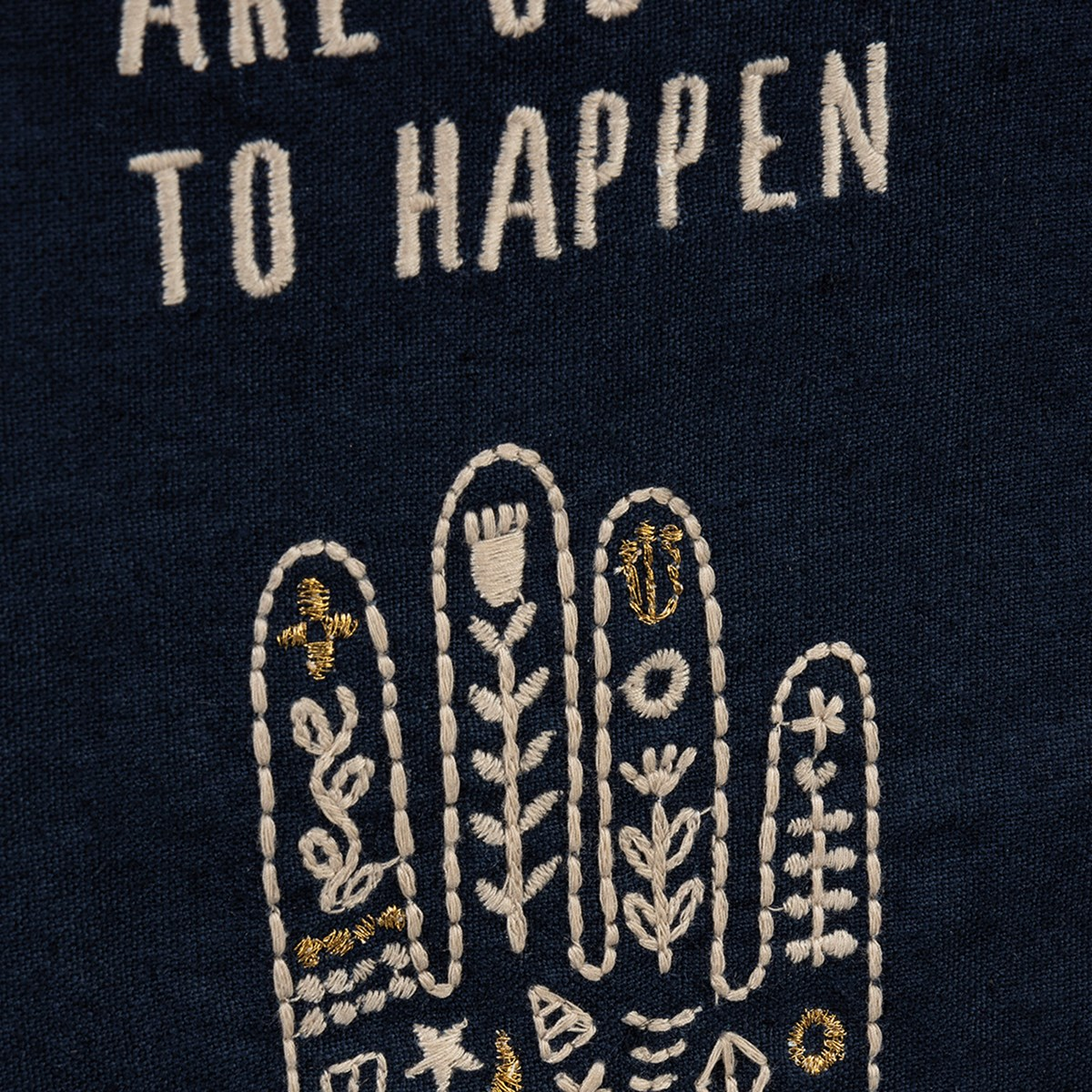 "Dish Towel - Good Things Are Going To Happen - 20"" x 26"" - Cotton, Linen"