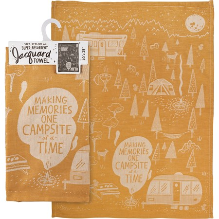 "Dish Towel - One Campsite At A Time - 20"" x 28"" - Cotton"