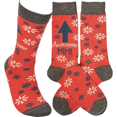 Socks - Awesome Mimi - One Size Fits Most - Cotton, Nylon, Spandex