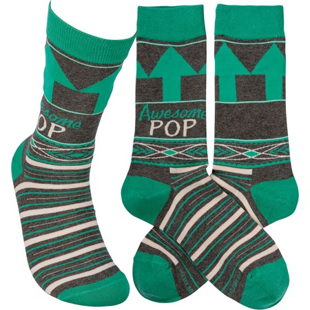Socks - Awesome Pop - One Size Fits Most - Cotton, Nylon, Spandex