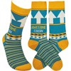 Socks - Awesome Cousin - One Size Fits Most - Cotton, Nylon, Spandex