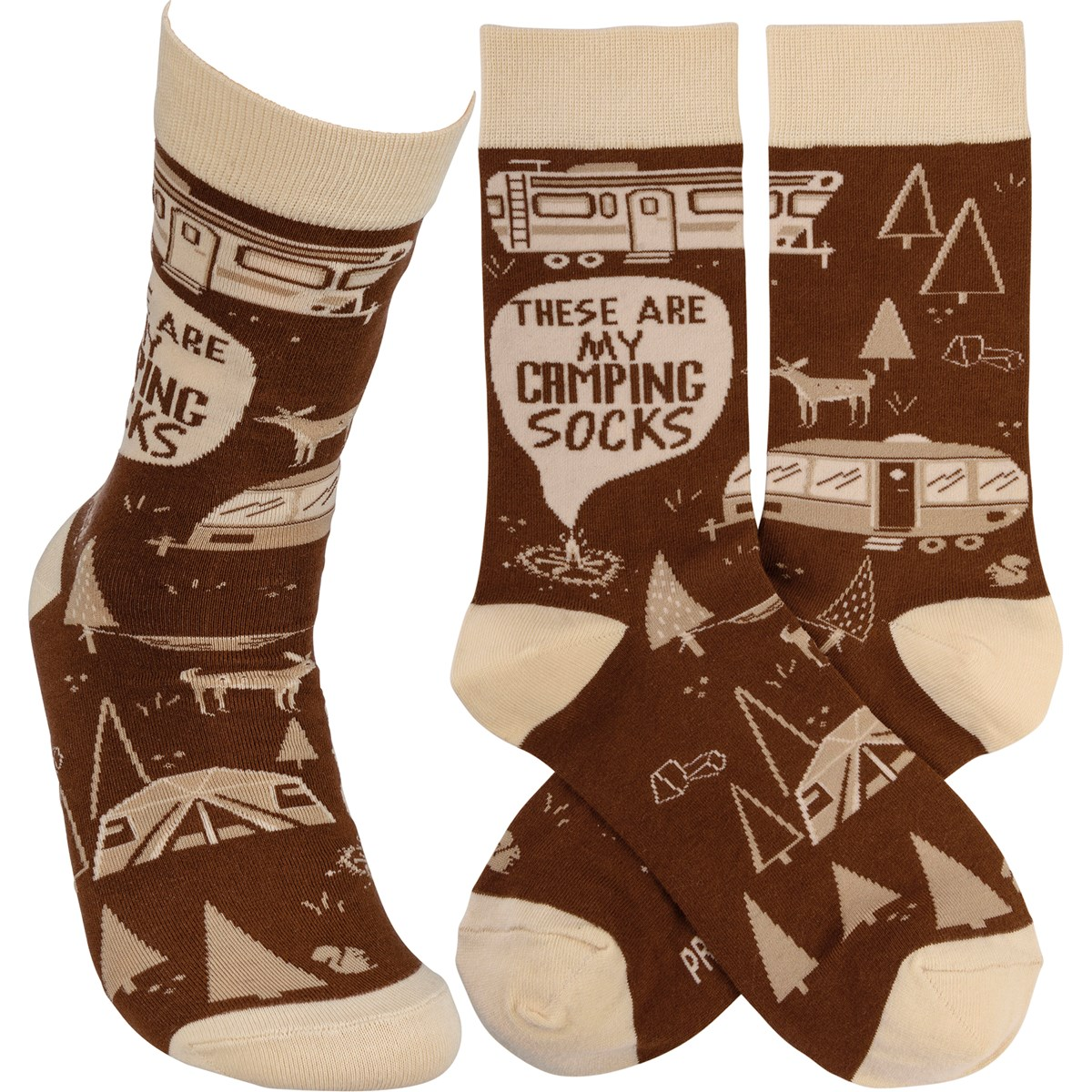 Socks - These Are My Camping Socks - One Size Fits Most - Cotton, Nylon, Spandex