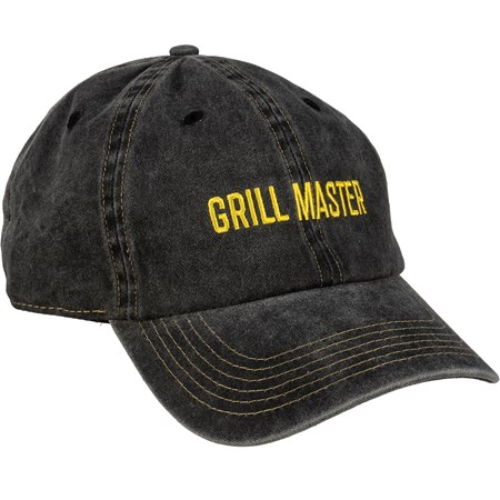 Baseball Cap - Grill Master - One Size Fits Most - Cotton, Metal
