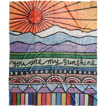 "Throw - You Are My Sunshine - 50"" x 60"" - Plush Polyester"