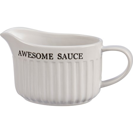 "Gravy Boat - Awesome Sauce - 6.50"" x 4"" x 5.25""  - Stoneware"