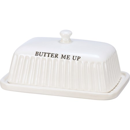 "Butter Dish - Butter Me Up - 7"" x 3"" x 5"" - Stoneware"
