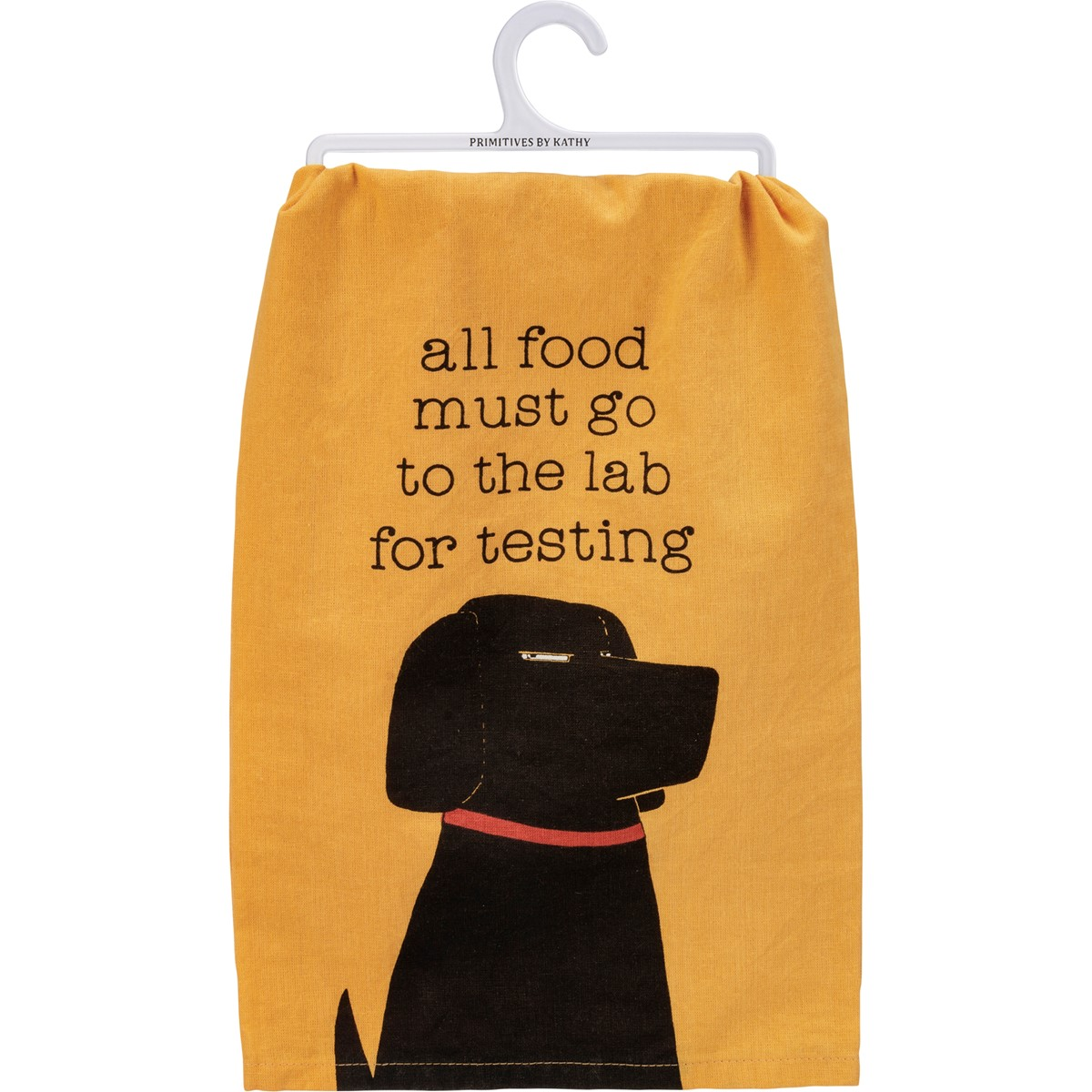 "Dish Towel - All Food To The Lab For Testing - 28"" x 28"" - Cotton"