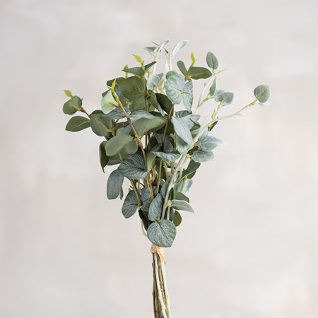 "Bouquet - Floral Leaves - 13"" Tall - Plastic, Fabric, Wire"