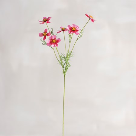 "Pick - Pink Cosmos - 31.50"" Tall - Plastic, Fabric, Wire"