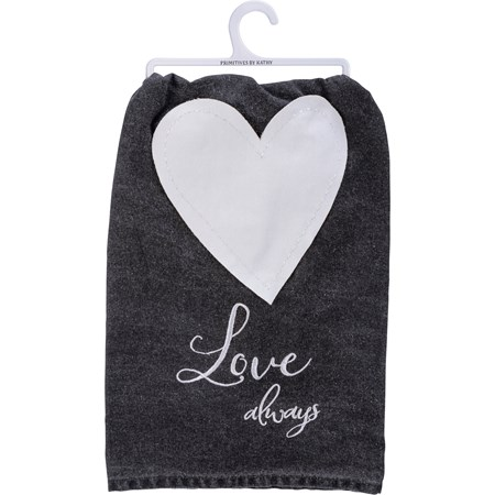 "Dish Towel - Love Always - 28"" x 28"" - Cotton"
